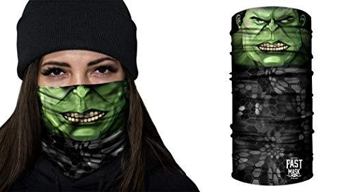 Fast Mask Tubular Bandanas With Face Shielding Protection Unisex - Hulk Green Rage