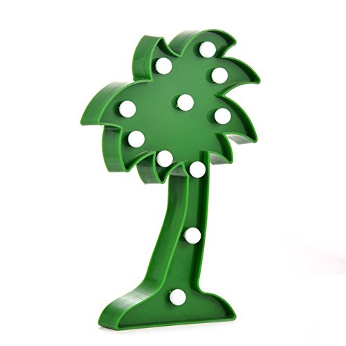 3D Tropical Palm Tree LED Light, - Wall Decor Holiday Birthday Party LED Lamp Light, Seasonal Home Decor Lights(Green)