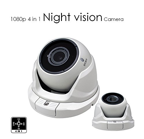 AED 1080P TVI/AHD/CVI/Analog 1/2.7 CMOS SENSOR 2.1MP 4 in 1 SMD IR DOME CAMERA WITH 2.8~12mm VARIFOCAL LENS AND TINTED - Vari Glasses
