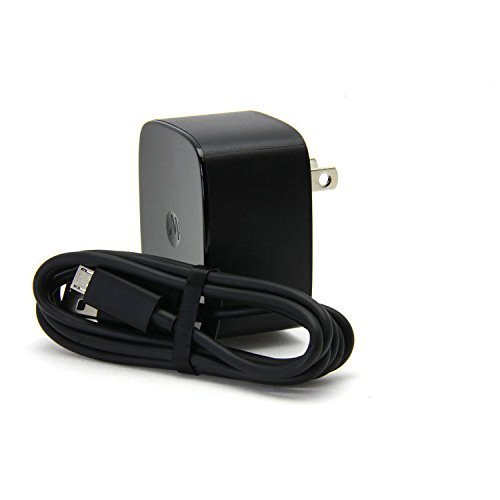 Motorola SPN5864B TurboPower 15 Wall Charger with Original 1m (3.3ft) SKN6461A micro USB Data/Charging Cable by Motorola