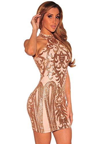 EZON CH Womens Sparkling Sequin Dress