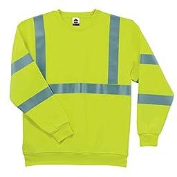 Ergodyne - 8397 M Lime Class 3 Sweatshirt