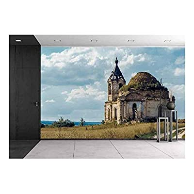 Old Abandoned Church - Removable Wall Mural | Self-Adhesive Large Wallpaper - 66x96 inches