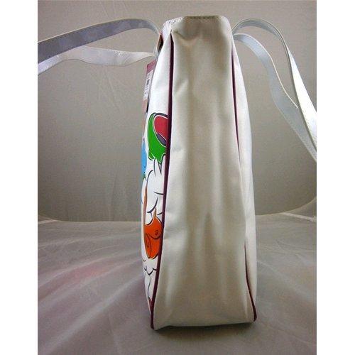 Borsa da passeggio Disney Paperina H 35 cm L 34 cm W 11 cm bianco