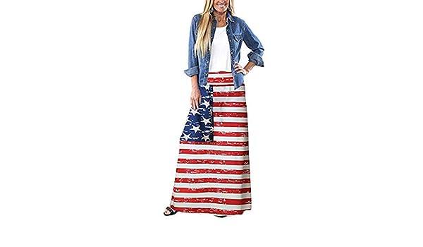 Fiaya - Falda Larga para Mujer, diseño de la Bandera de los ...