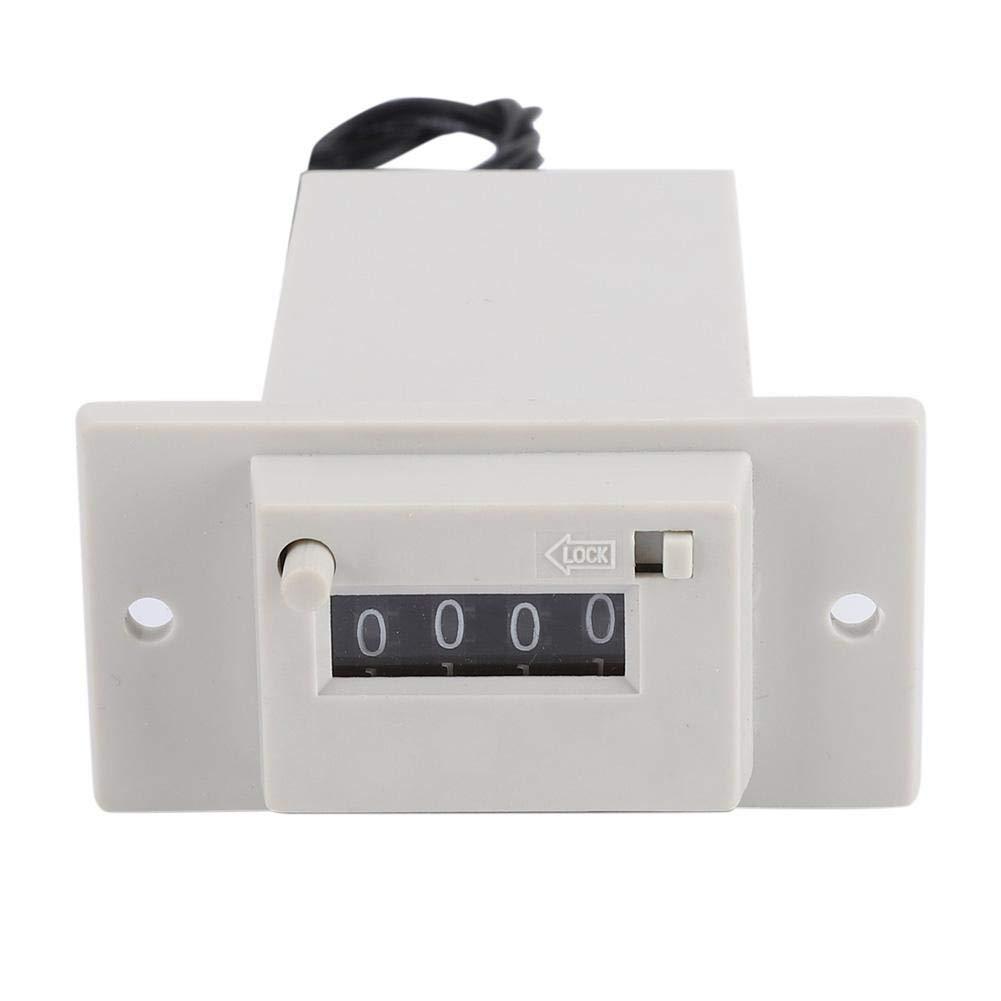 Compteur dimpulsions , CSK4-YKW 4 chiffres 0-9999 Compteur dimpulsions /électromagn/étique m/écanique totalisateur industriel DC12V