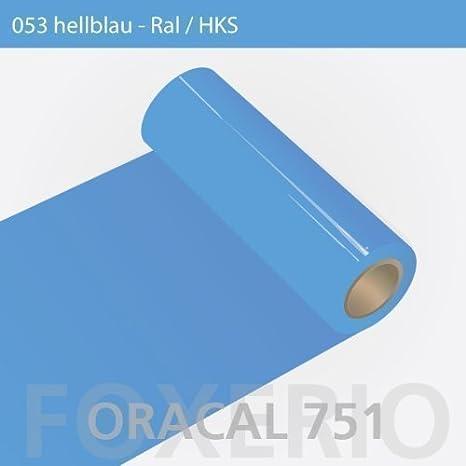 Your Design Oracal 751 Rollo de Vinilo Adhesivo de Alto Brillo para Muebles de Cocina, 5m x 31cm - 5 m (Metro Lineal) x 31 cm (Ancho), Azul Claro: Amazon.es: Hogar