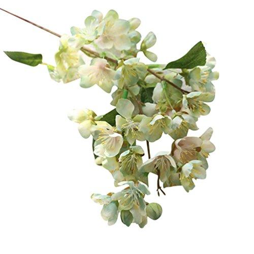 [Matoen(TM) Artificial Fake Flowers Leaf Cherry Blossoms Floral Wedding Bouquet Party Decor (mint green)] (Autumn Leaf Bouquet)