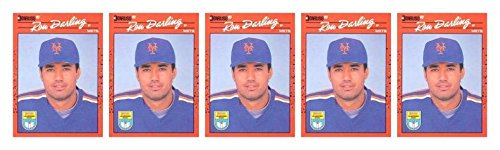 (5) 1990 Donruss Learning Series #29 Ron Darling Baseball Card Lot Mets