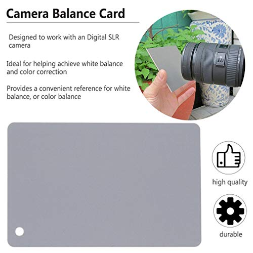 FocusFoto 3 in 1 Extra Large-Size Digital Grey Black White Balance 18/% Gray Exposure Cards