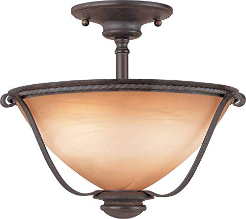 Volume Lighting V2650-53 Altamonte 2 Light Frontier Iron semi-Flush Ceiling Mount ()