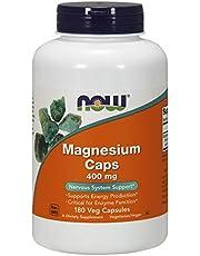 Now Foods Magnesium Caps, 400mg, Veggie Caps, 180ct