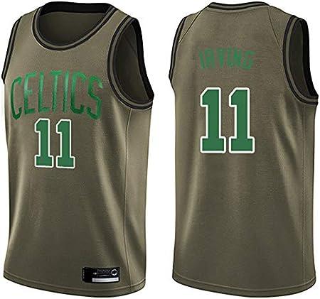Wo nice Uniformes De Baloncesto De Los Hombres, Boston Celtics # 11 Kyrie Irving Camisetas Deportivas De La NBA Camisetas Sueltas Chalecos Ocasionales Y Camisetas De Fans,Latón,XXL(185~190CM)