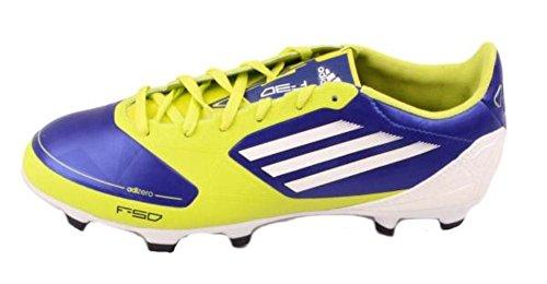 the latest a8cff b66c6 ... Adidas Adizero F30 Trx Fg W Chaussures De Football Bleu   Blanc   Jaune  Pour Femme ...