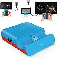 【ミニ小型・PD対応】最新Switchドック 充電スタンド (HDMI変換/TVモード/テーブルモード)最新 任天堂スイッチNintendo Switchシステム対応 4K1080P解像度 ニンテンド ポータブル USBハブスタンド...