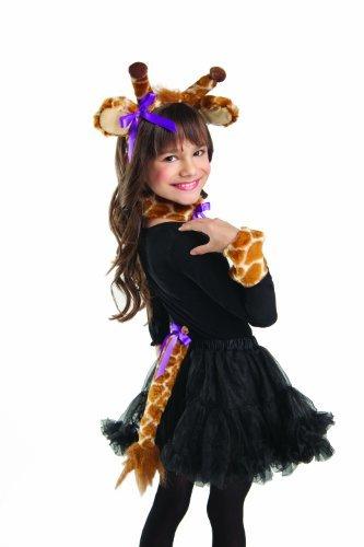 Party King Adult Giraffe Halloween Costume Plush Zoo Animal Kit