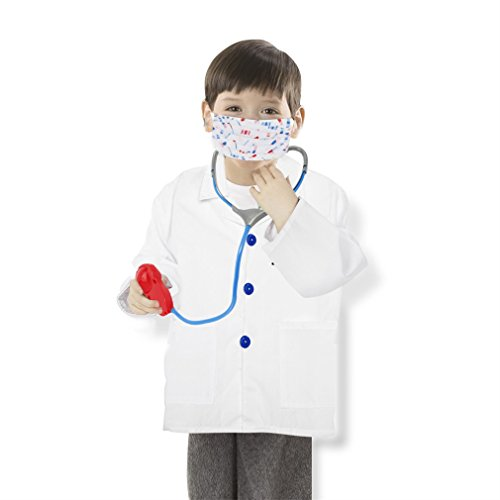 [OUTAD Doctor Role Play Outfit Costume Doctor Dress-Up Set and Accessories for 90-130cm Children Kids] (Doctor Outfits)