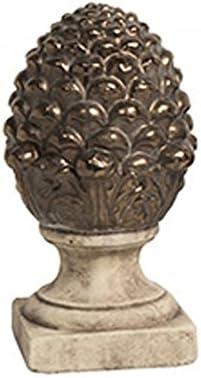 Wadiga D/écoration /à Poser Terre Cuite Pomme de Pin Or Vieilli