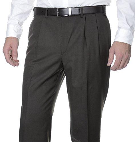 Double Pleated Dress Pants - 9