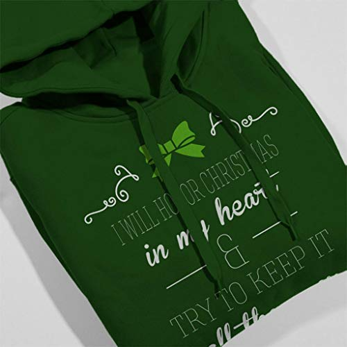 Hooded Bottle Quote Christmas Will Green Dickens Sweatshirt Heart I Honor In My Women's Charles w7nqZ