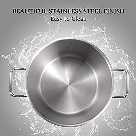Amazon.com: MICHELANGELO - Batería de cocina de acero ...