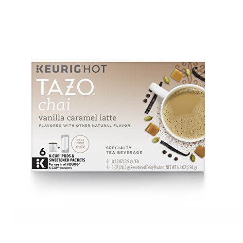 Tazo K-Cup for Keurig Brewers, Vanilla Caramel Latte, 24 Count