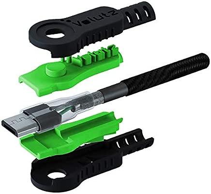 Volutz Cable Micro USB 2 Metros - Cable Cargador Equilibrium Super Resistente en Nylon Trenzado de Carga Rapida y Conector de Sincronización para ...