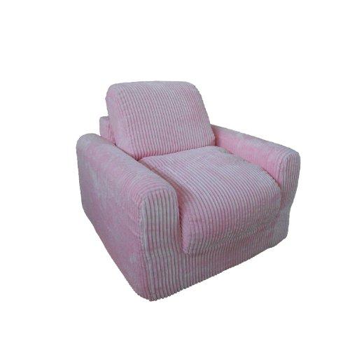 Sleeper Upholstered Chair (Fun Furnishings Chair Sleeper, Pink Chenille)