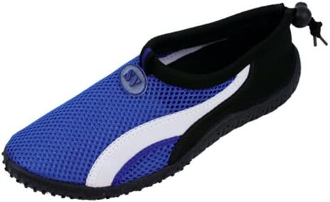 Starbay New Brand Womens Blue Athletic Water Shoes Aqua Socks with White Streak Size 5