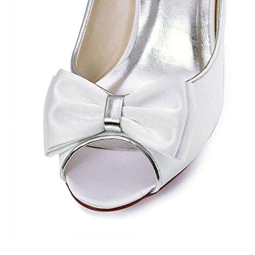 Minitoo MinitooUK-MZ8212, Sandales Pour Femme - Blanc - White-5cm Heel, 36.5