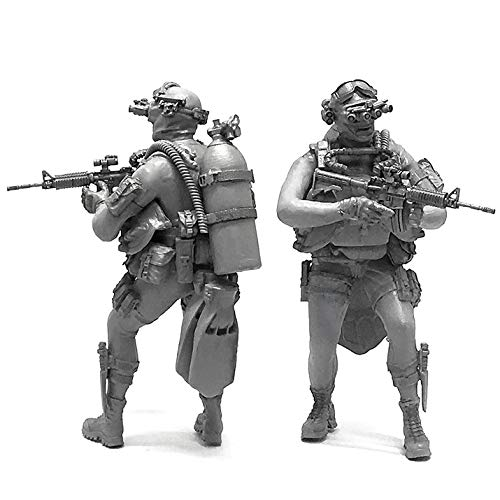 1/35 US Army Scuba Diver Night Vision Soldier Navy Resin Scale Model