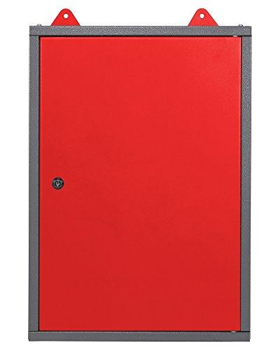 Werkzeugschrank Werkstattschrank Hängeschrank 40 cm abschließbar mit Eurolochwand rot