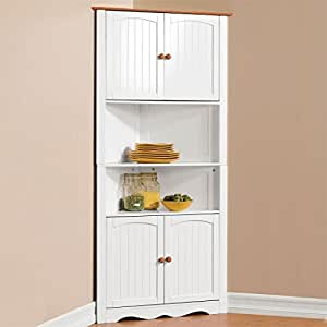 kitchen cabinets amazon brylanehome country kitchen corner cabinet 2867
