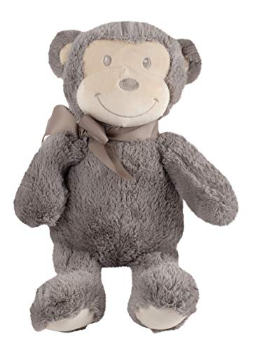 Monkey Plush Toy - Mimi The Monkey Stuffed Animal with Ribbon, Animal Plush, Kids Birthday Gift, Baby Shower Present, Brown, 10.5 x 10.5 x 6.5 - Mimi Stuffed Animals