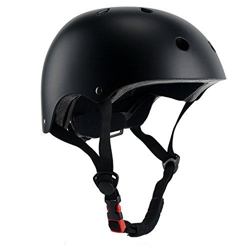 (CCTRO Skateboard Helmet, Adjustable Impact Resistance Ventilation Bike Skating Scooter Helmet for Cycling Skateboarding Scooter Roller Skate Inline Skating Rock Climbing)
