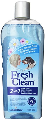 Fresh'n Clean Pet 2-in-1 Baby Powder Formula Conditioning Shampoo, 18-Ounce