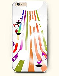 OOFIT iPhone 6 Case ( 4.7 Inches ) - Vertical Stripe and Red Purple Music Note