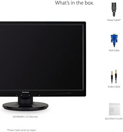 ViewSonic VA2446MH-LED 24 Inch Full HD 1080p LED Monitor with HDMI and VGA Inputs for Home and Office,Black 41spGbKyMAL