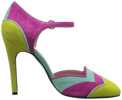 Boutique Moschino Womens Clarissa Pump Purple/Aqua/Yellow wcr2O