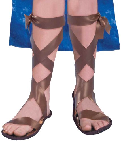 Egyptian Roman Greek Costumes (Forum Novelties Roman Costume Sandals, One Color, Child Medium)