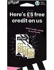 Giffgaff 02 4 g drievoudige simkaart – standaard/micro/nano-sim – met £5, iPhone 4 4S 5 5 C 5S 6 6S 6 Plus – onbeperkte oproepen, teksten en gegevens – LH Limited