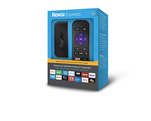Roku Express | Easy High Definition (HD) Streaming Media Player (Turn Off Voice Control On Kindle Fire)