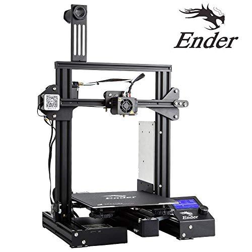 Luxnwatts Creality Ender 3 3D Printer Aluminum DIY Kit Resume Print 220x220x250mm for Beginners