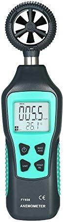 デジタル風速計、ハンドヘルド風速計、風速、気温、風冷を測定、気象データ収集用屋外セーリングサーフィン釣り