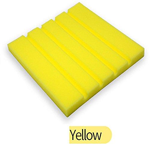 Quaanti Wallpaper Sticker Sponge Acoustic Foam Panel Wall Sticker Sound Stop Absorption Studio Soundproof Wallpaper for Living Room (Yellow)