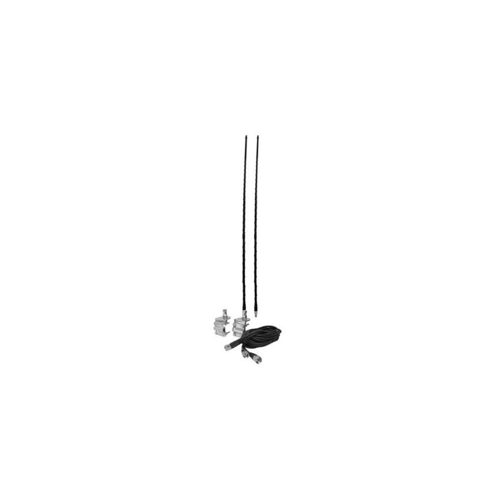 Accessories Unlimited AUMM24-B Dual Four Foot Mirror Mount CB Antenna Kit (Black)