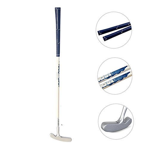 Acstar Two Way Junior Golf Putter Kids Putter Both Left and Right Handed Easily Use 3 Sizes for Ages 3-5 6-8 9-12(Silver Head+White Shaft+Blue Grip,29 inch,Age 9-12)