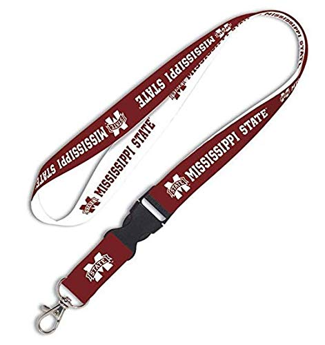 Solid Rock NCAA Mississippi State University 80418012 Lanyard with Detachable Buckle, 3/4