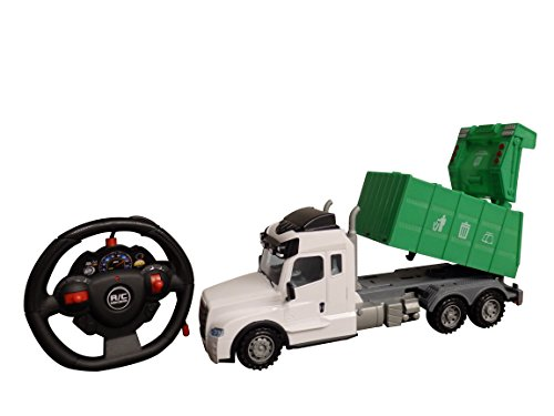Playtek 1: 15 4 Ch R/C Garbage Truck Remote Control (Remote Control Recycle Truck)