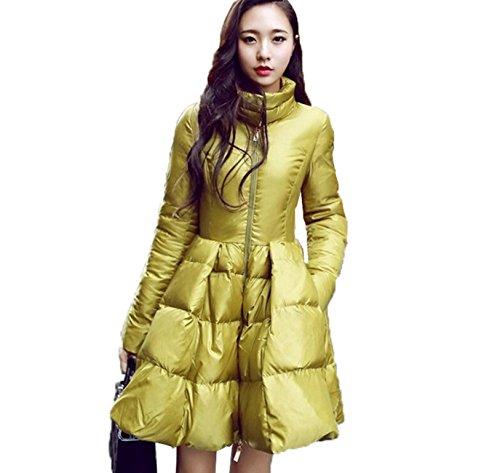 Warm Moda Warm Coat Abigaelle Jacket Elegante 2016 Down S Taglia Woman Giallo 1YtZZw